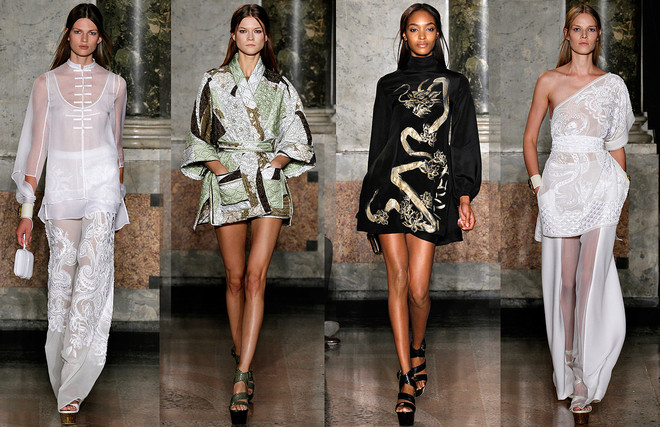 Emilio Pucci SS 2013 Asia kimono style Летняя мода 2013 от мировых брендов